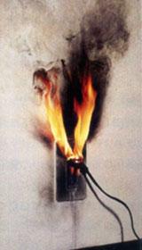 コンセントの火災